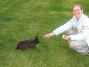 Jenny bunny feeding