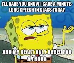 sponge bob public speaking