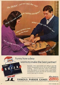 Ouija Board Ad 1968 by Justin Wilson